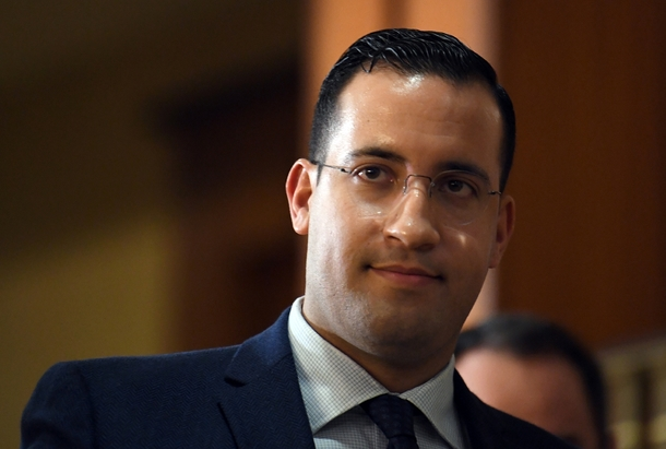 Alexandre Benalla avant son audition par la commission sénatoriale, le 21 janvier 2019 à Paris