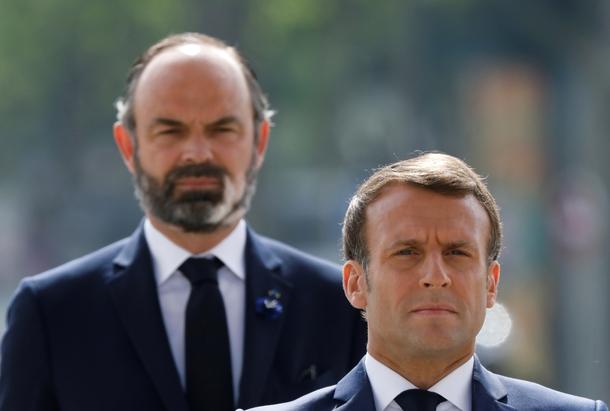 Le président Emmanuel Macron et le Premier ministre  Edouard Philippe le 8 mai 2020 à Paris