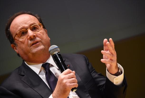 Francois Hollande, le 1er décembre 2017 à Bordeaux