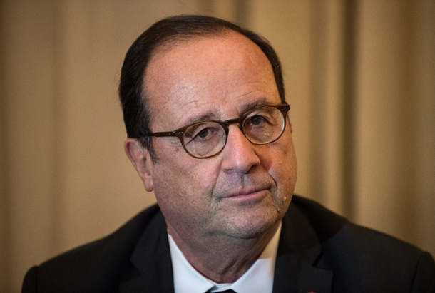 L'ancien président de la République François Hollande le 15 novembre 2018 à Athènes