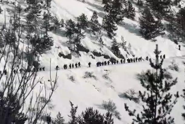 Mission d'aide aux migrants dans les Alpes