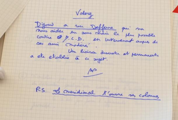 Notes de campagne de VGE au sujet d'une alliance avec Gaston Defferre