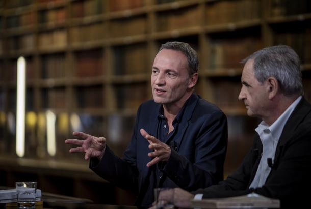 François Bégaudeau et Pierre Rosavallon sur le plateau de Livres & vous