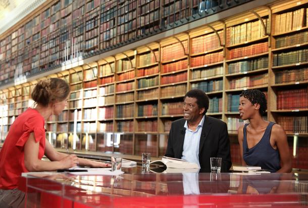 Adèle Van Reeth en compagnie de Dany Lafferiere et Tania de Montaigne pour son émission Livres & Vous...