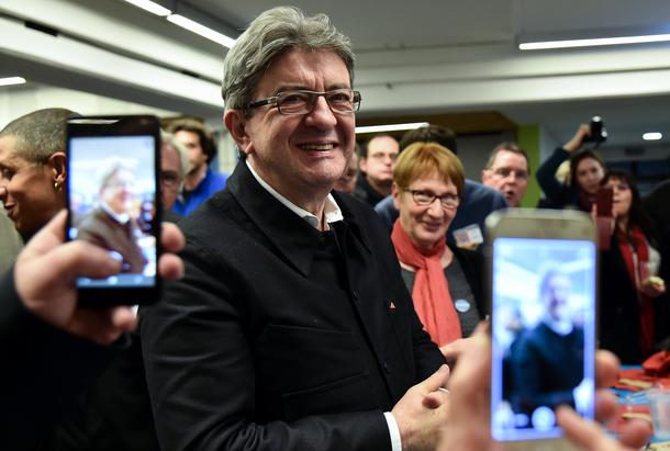 Jean-Luc Mélenchon pris en photo par ses partisans