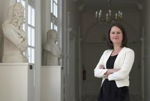 La maire socialiste de Nantes Johanna Rolland à l'Hôtel de Ville de Nantes, le 2 mai 2016
