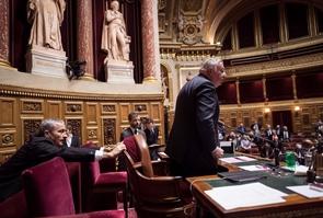 Le président du Sénat, Gérard Larcher, le 17 novembre 2016 au Palais du Luxembourg, à Paris