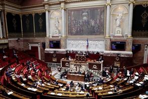 L'hémicycle de l'Assemblée nationale lors du vote de la hausse controversée de la CSG le 25 octobre 2017 à Paris