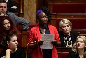 La députée de La France Insoumise Danièle Obono, à l'Assemblée nationale le 12 novembre 2019