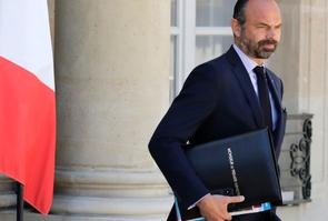 Le Premier ministre Edouard Philippe quittant le Palais de l'Elysée, le 15 mai 2019