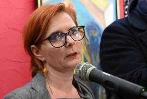Clothilde Ollier lors d'une conférence de presse à Montpellier, le 20 janvier 2020.