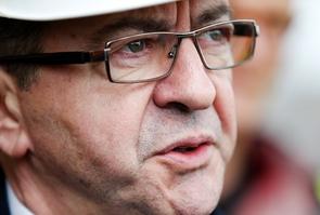 Jean-Luc Mélenchon, le 29 mars 2017 aux docks du Havre