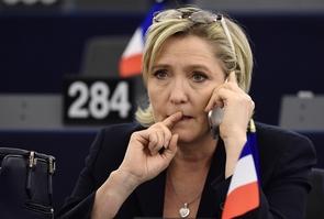 Marine Le Pen au Parlement européen, le 17 janvier 2017 à Strasbourg