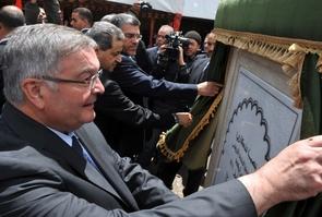 Michel Mercier lors d'une cérémonie à Marrakech au Maroc le 28 avril 2012