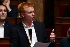 Le député La France insoumise Adrien Quatennens pendant une séance de questions au gouvernement, le 26 septembre 2018 à l'Assemblée nationale