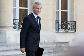 Le ministre français de l'Economie Bruno Le Maire à l'Elysee, le 14 septembre 2017