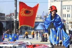 Drapeaux Kosovo - Albanie