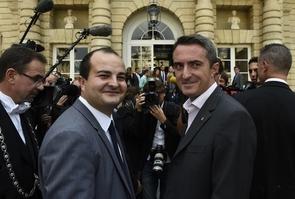 David Rachline et Stéphane Ravier (FN) font leur entrée au Sénat