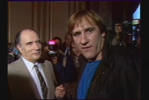 F. Mitterrand et G. Depardieu