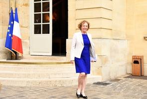 La ministre du Travail, Muriel Pénicaud, à l'Hôtel de Matignon le 24 juillet 2017