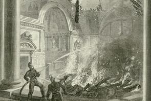 Incendie du Sénat en 1859