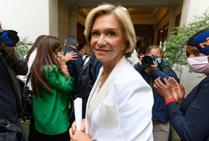 Paris: Pecresse delivers a speech after she was reelected of the French regional elections