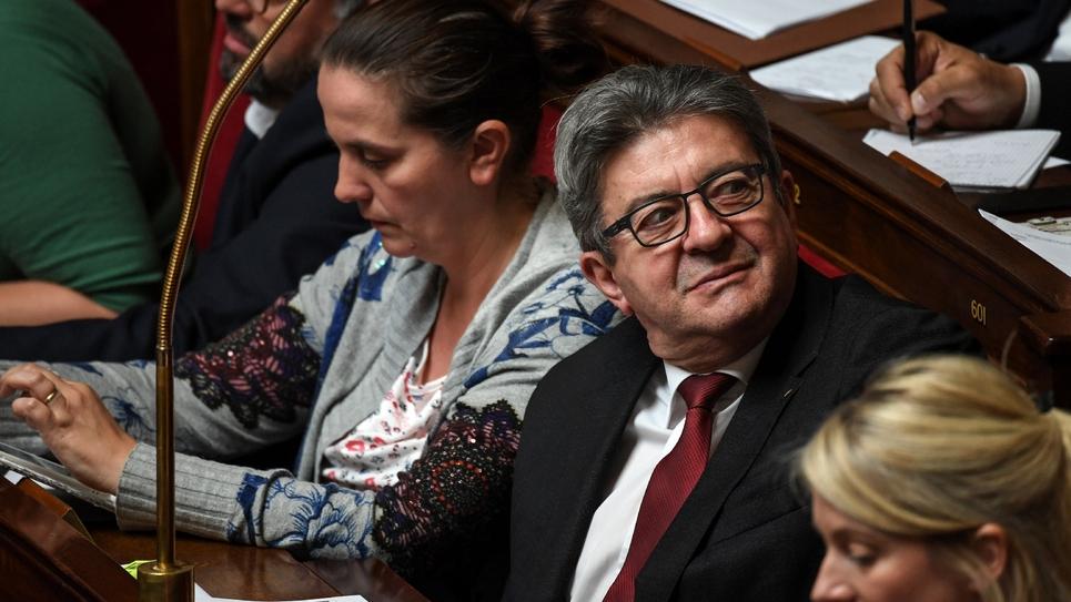 Le leader du parti La France Insoumise Jean-Luc Mélenchon le 12 juin 2019 à l'Assemblée Nationale