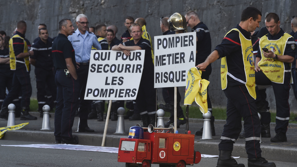 Manifestation des pompiers le 19 septembre 2019