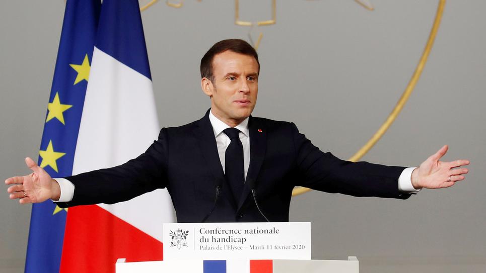 Emmanuel Macron, à la Conférence nationale sur le handicap