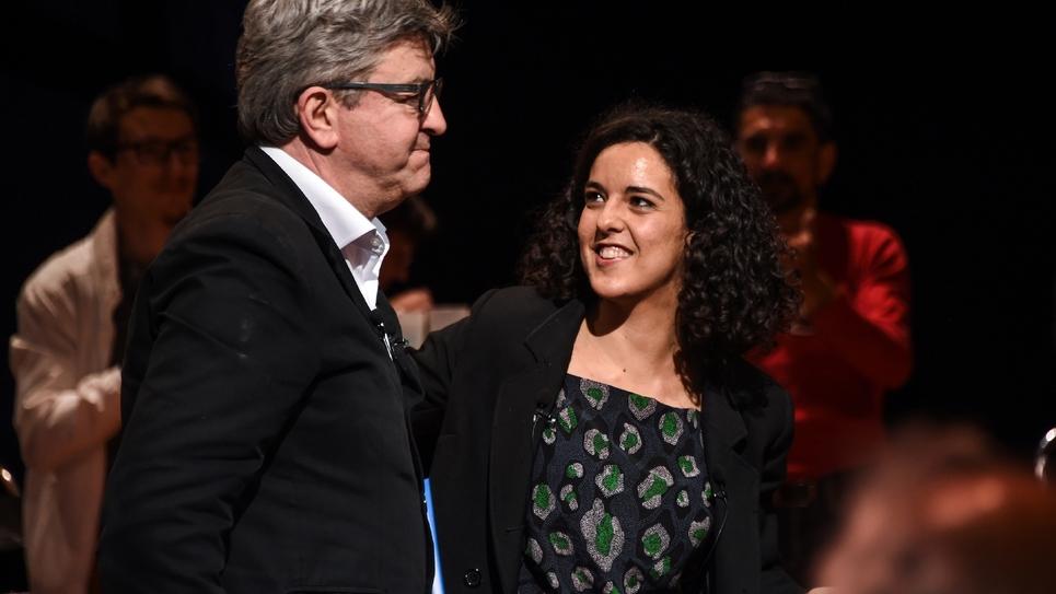 Manon Aubry et Jean-Luc Mélenchon le 21 mai 2019 à TOulouse
