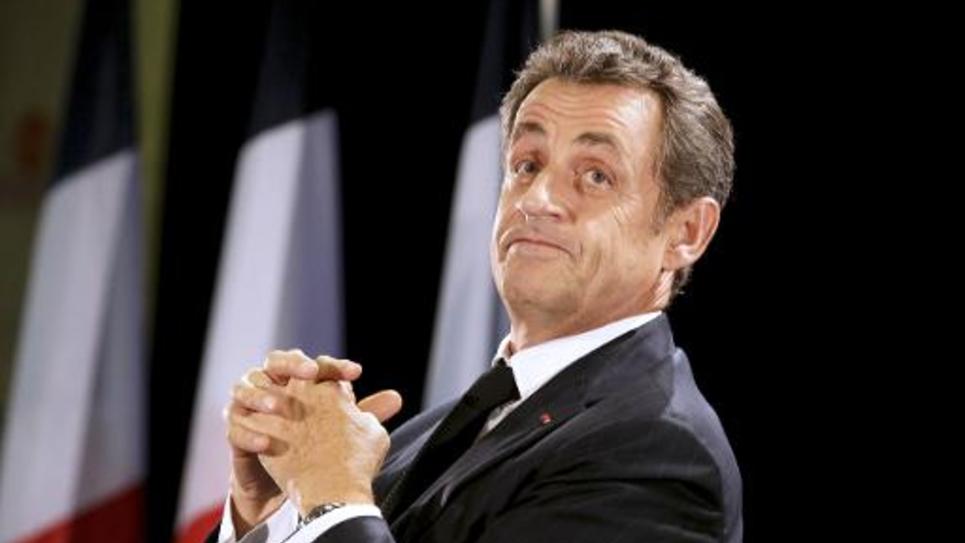 Nicolas Sarkozy, le 2 octobre 2014 à Saint-Julien-les-Villas, dans la périphérie de Troyes