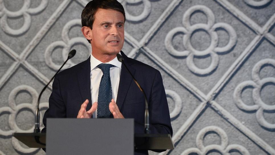 L'ancien Premier ministre français, Manuel Valls, annonce sa candidature à la mairie de Barcelone le 25 septembre 2018 à Barcelone
