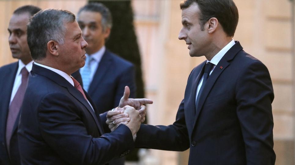 Le président français Emmanuel Macron reçoit le roi de Jordanie Abdallah II le 19 décembre à l'Elysée, à Paris