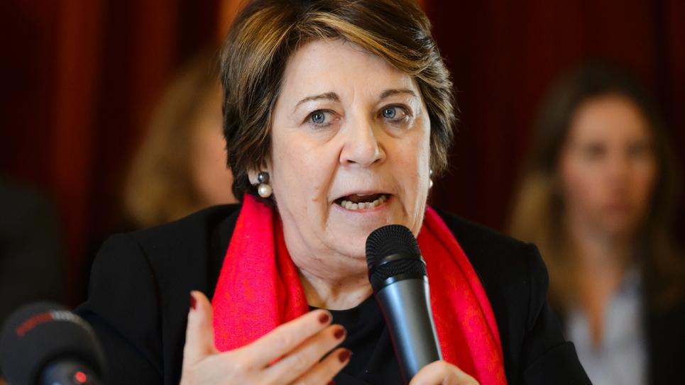 Corinne Lepage le 7 mars 2016 à Genève