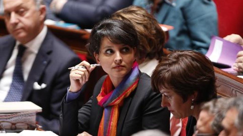La ministre de l'éducation Najat Vallaud-Belkacem à Paris le 2 juin 2015
