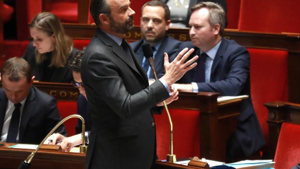 Le Premier ministre Édouard Philippe à l'Assemblée nationale le 19 février 2019