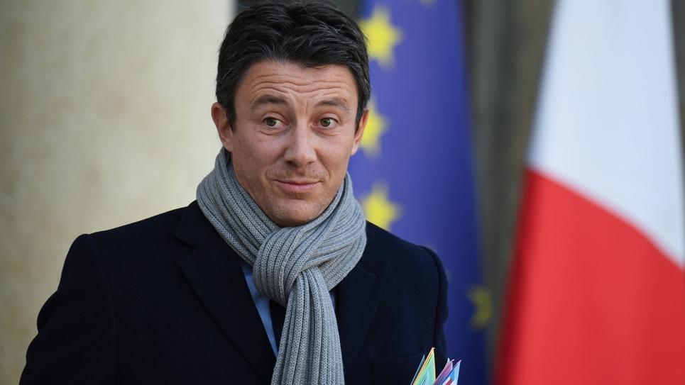 Benjamin Griveaux, le 21 novembre 2018 à la sortie du conseil des ministres à l'Elysée le 21 novembre  2018