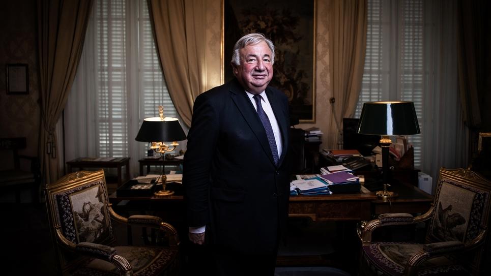 Le président du Sénat Gérard Larcher dans son bureau à Paris, le 24 juillet 2019