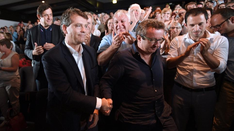 Christian Paul entre Arnaud Montebourg et Benoît Hamon le 11 septembre 2016 à La Rochelle