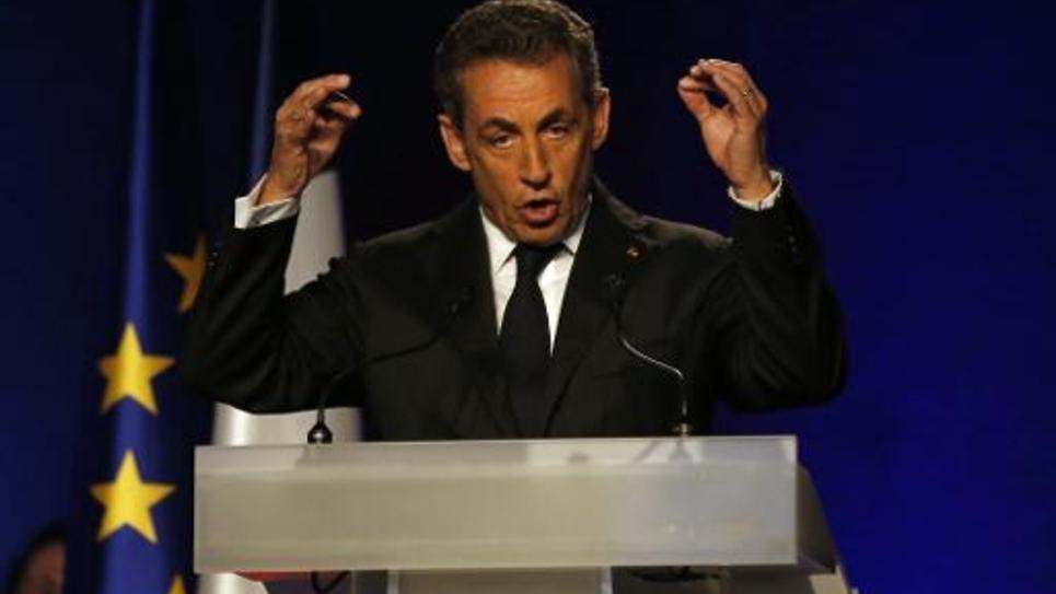 Nicolas Sarkozy en meeting le 21 octobre 2014 à Nice