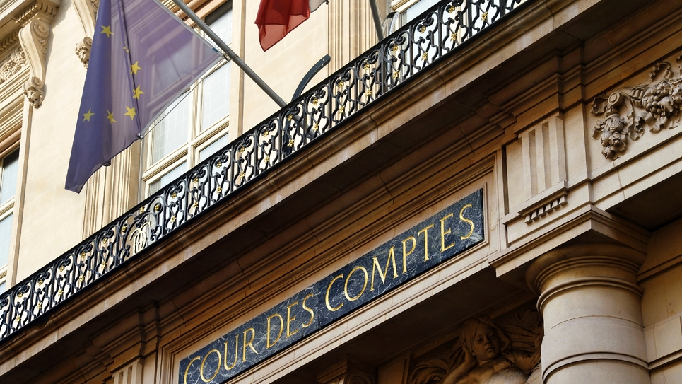 Entrée de la Cour des comptes à Paris, le 20 septembre 2016