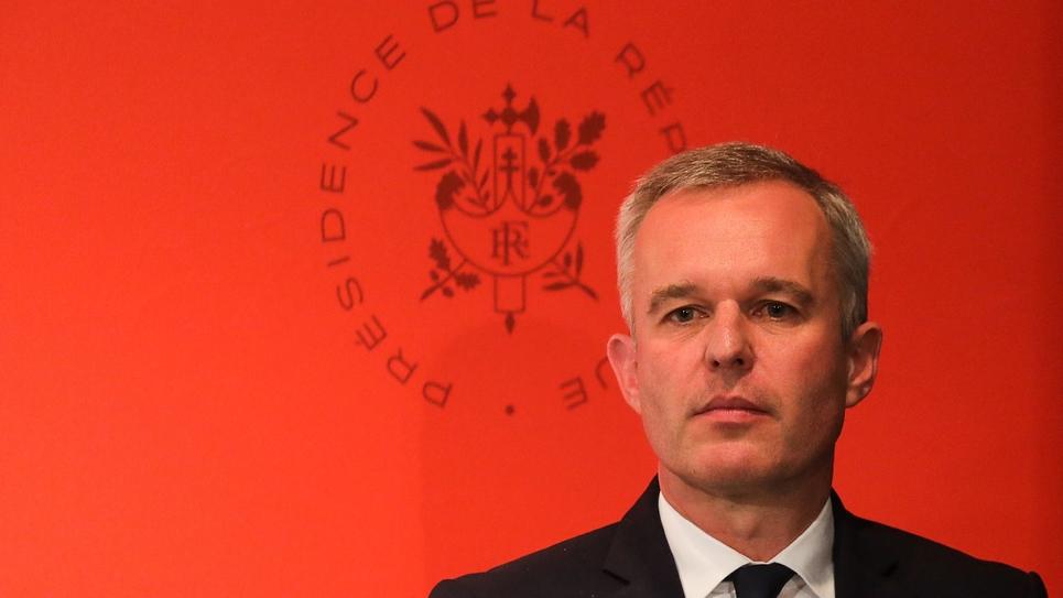 Le ministre de l'Environnement François de Rugy lors d'une conférence de presse, le 10 juillet 2019 à l'Elysée, à Paris