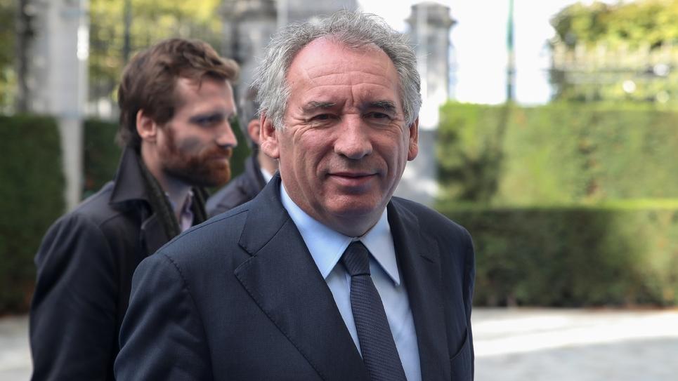 Le chef de file du MoDem et maire de Pau, Francois Bayrou, à Bruxelles le 17 octobre 2019