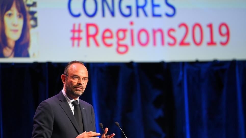 Le Premier ministre Edouard Philippe au 15e Congrès des régions, à Bordeaux le 1er octobre 2019