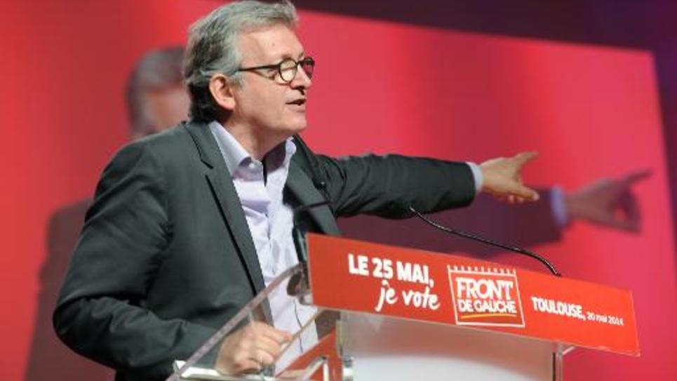 Le secrétaire national du PCF Pierre Laurent le 20 mai 2014 à Toulouse