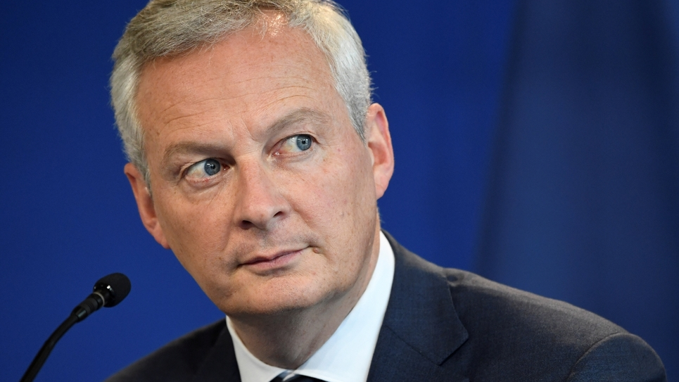 Le ministre de l'Economie et des Finances Bruno Le Maire le 26 septembre 2019