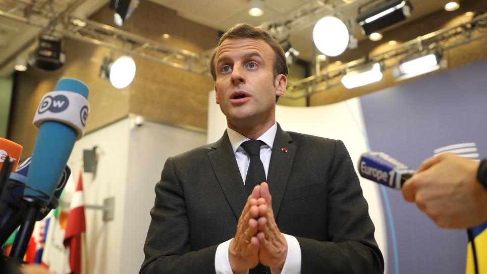 Le président Emmanuel Macron lors d'une conférence de presse, le 22 mars 2019 à Paris
