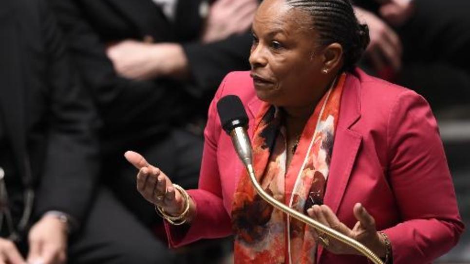 La Garde des Sceaux Christiane Taubira le 8 avril 2015 à l'Assemblée nationale à Paris