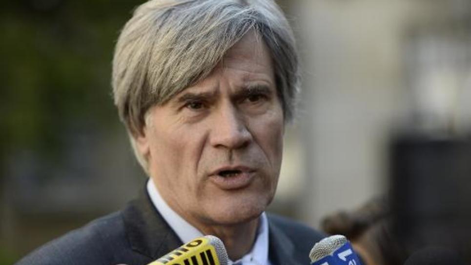 Stéphane Le Foll, le porte-parole du gouvernement s'adresse aux journalistes le 26 septembre 2014 à Paris