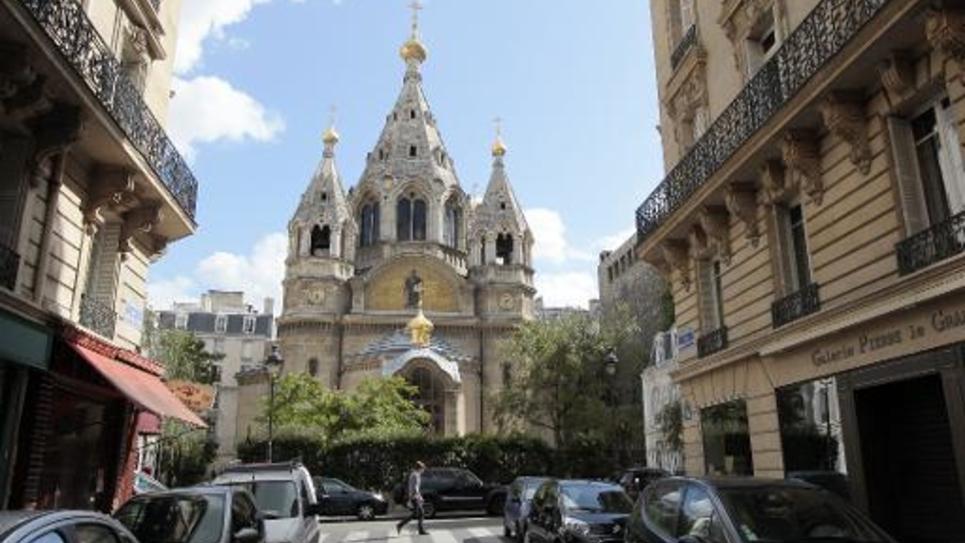 L'église orthodoxe russe Alexander Nevsky à Paris